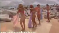Adult video beautiful girls on beach